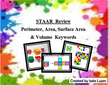 STAAR Review: Perimeter, Area, Surface Area & Volume Keywords