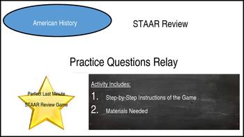 STAAR Review: Practice Question Relay