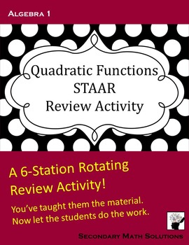 STAAR Review: Quadratic Functions