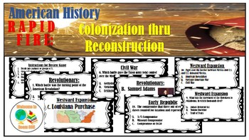 STAAR Review: Rapid Fire Questions from Colonization-Reconstruction