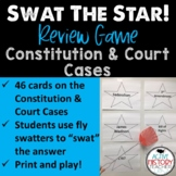Constitution and Court Cases Review Game:  Swat the Star Great for STAAR Review