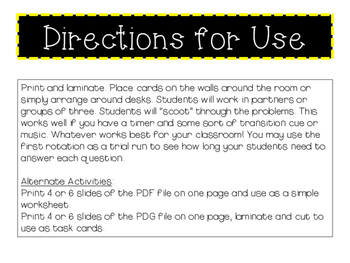 4th Grade Math STAAR Review Scoot - 30 Task Cards