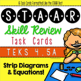 STAAR Review Task Cards: Multi-Step Strip Diagrams & Equat