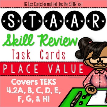STAAR Review Task Cards {TEKS 4.2A, 4.2B, 4.2C, 4.2D, 4.2E, 4.2F, 4.2G & 4.2H}