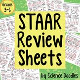 Science Doodle - STAAR Science Doodles Review Test Prep Sheets