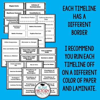 STAAR 8th Social Studies Review:  Timeline races