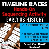 US History Timeline Races: Sequencing Activity Great for STAAR Review!