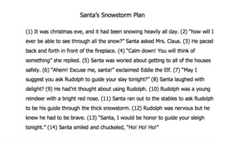 STAAR Revise and Edit Santa Grammar Story *NEW*