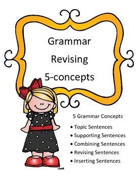 STAAR Grammar Review Revising Passage- 5 Concept Quizzes