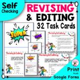 Revising and Editing Writing Task Cards