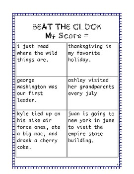 STAAR Revising and Editing: Beat the Clock Capitalization Practice
