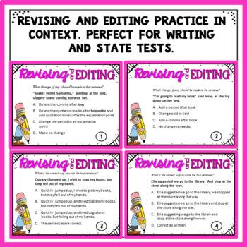 Revising and Editing Task Cards Plus Free Bonus Quiz by ...