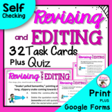 Revising and Editing Task Cards Plus Free Bonus Quiz