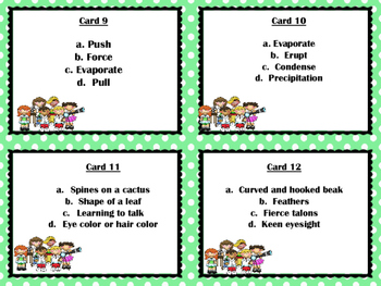 STAAR SCIENCE REVIEW, Grade 5.  Odd One OUT.  Science terms and concepts