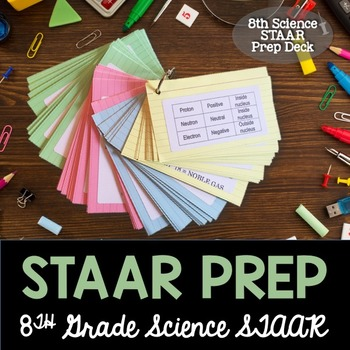 STAAR Science Prep - 8th Grade Flash Card Review and Test Prep