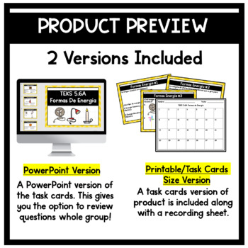 Energia- Energy Task Cards (5th Grade)