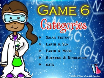 STAAR Science Jeopardy Game 6