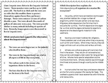 STAAR Science Questions 5th grade FREEBIE