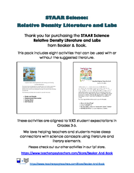 STAAR Science  Relative Density Literature and Labs
