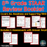 8th Grade Science STAAR Review Booklet Bundle