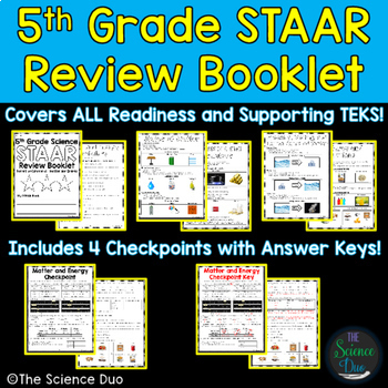 STAAR Science Review Booklet - 5th Grade by The Science ...