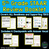 5th Grade Science STAAR Review Booklet Bundle