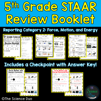 STAAR Science Review Booklet - Force, Motion, and Energy - 5th Grade