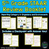 STAAR Science Review Booklet - Organisms and Environments - 5th Grade