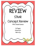 STAAR Science REVIEW- Fifth Grade - 30 Assignments - Homework