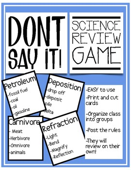 STAAR Science Review Game - fifth grade vocabulary!