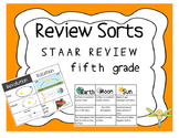 STAAR Science Review SORTS - 10 Sets - Fifth Grade -