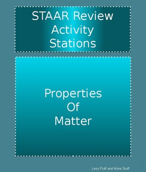 STAAR Science Review Stations - Matter