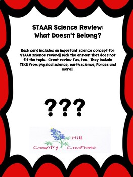 STAAR Science Review:  What Doesn't Belong?