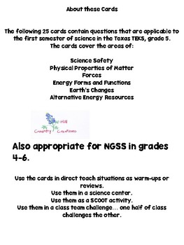STAAR Science Review for Gr. 5: Texas TEKS , also works for NGSS