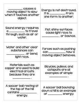 STAAR Science Vocabulary Bingo: Force, Motion, & Energy TEKS