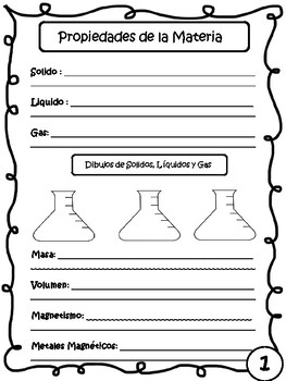 STAAR Science- Vocabulary Book in SPANISH