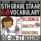 STAAR Science Vocabulary Flashcards - 68 total cards 5.5A TEKS and more!