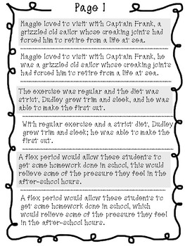 7th Grade STAAR Writing Prep: Run-On Sentences Sorting Activity