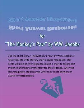 "STAAR Short Answer Practice using ""The Monkey's Paw"""