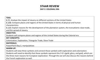 STAAR Social Studies Review- Colonial Era