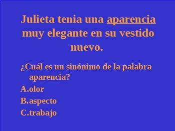 STAAR  Spanish Reading Jeopardy 3rd Grade