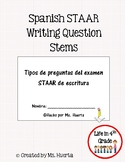 STAAR Spanish Writing Question Stems