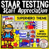 STAAR Standardized Test Staff Appreciation Celebration Packet Superhero Theme