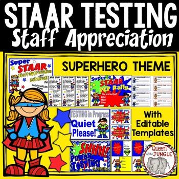STAAR Standardized Test Staff Appreciation Celebration Pac