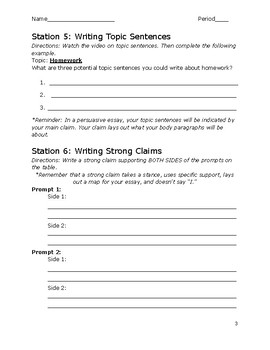 STAAR Stations Packet