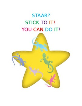 STAAR Stick to It Gecko Themed