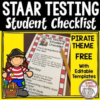 STAAR Student Testing Checklist Free