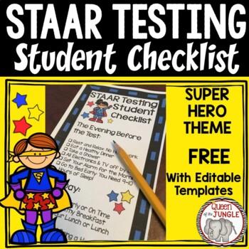 STAAR Student Testing Checklist - Free