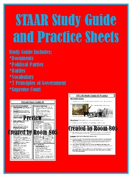 STAAR Study Guide and Practice Worksheets