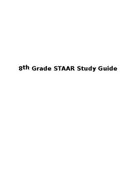 Study guide for sixth grade staar array staar study guide teaching resources teachers pay teachers rh teacherspayteachers com fandeluxe Image collections